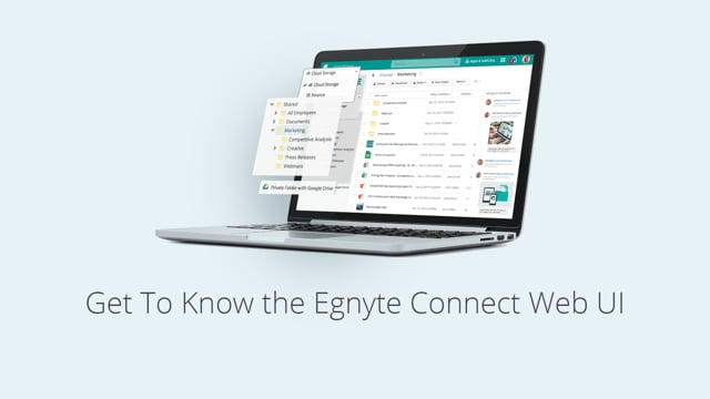 Get To Know the Egnyte Connect Web UI