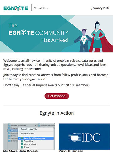 Thumbnail of February 2018 Egnyte Customer Newsletter