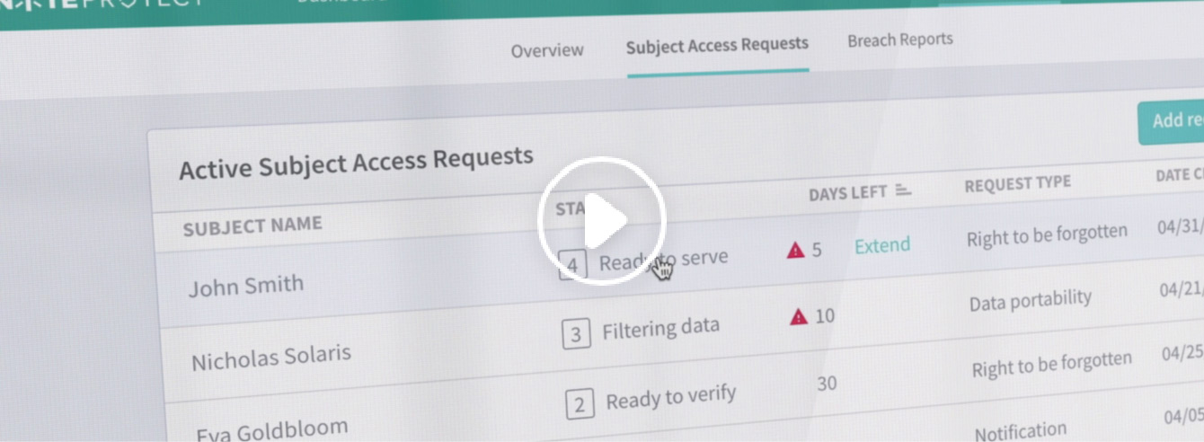 Respond to Data Subject Access Requests