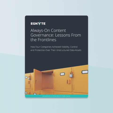 Always-On Content Governance: Lessons from the Front Lines