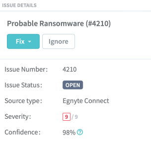 ransomware detection notification