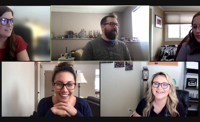 remote team members in zoom meeting