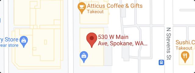 spokane washington office location on map