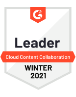 G2 Leader Cloud Content Collaboration Winter 2021