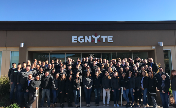Egnyte team members in mountain view california